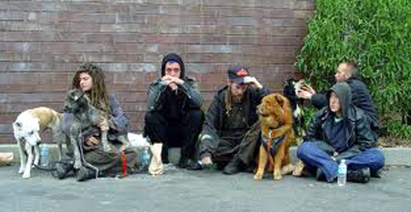 homeless family L
